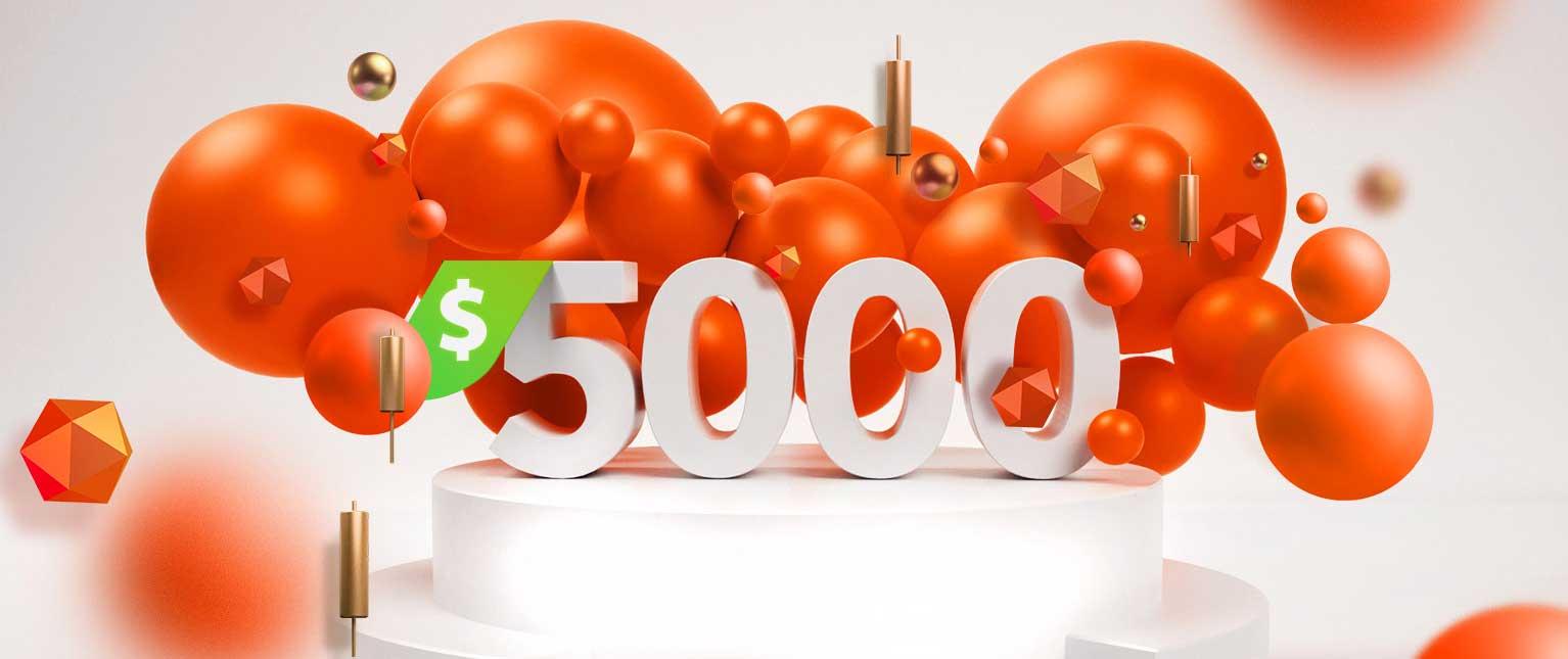 The Big $5000 – FXTM's Biggest Deposit Bonus Ever!